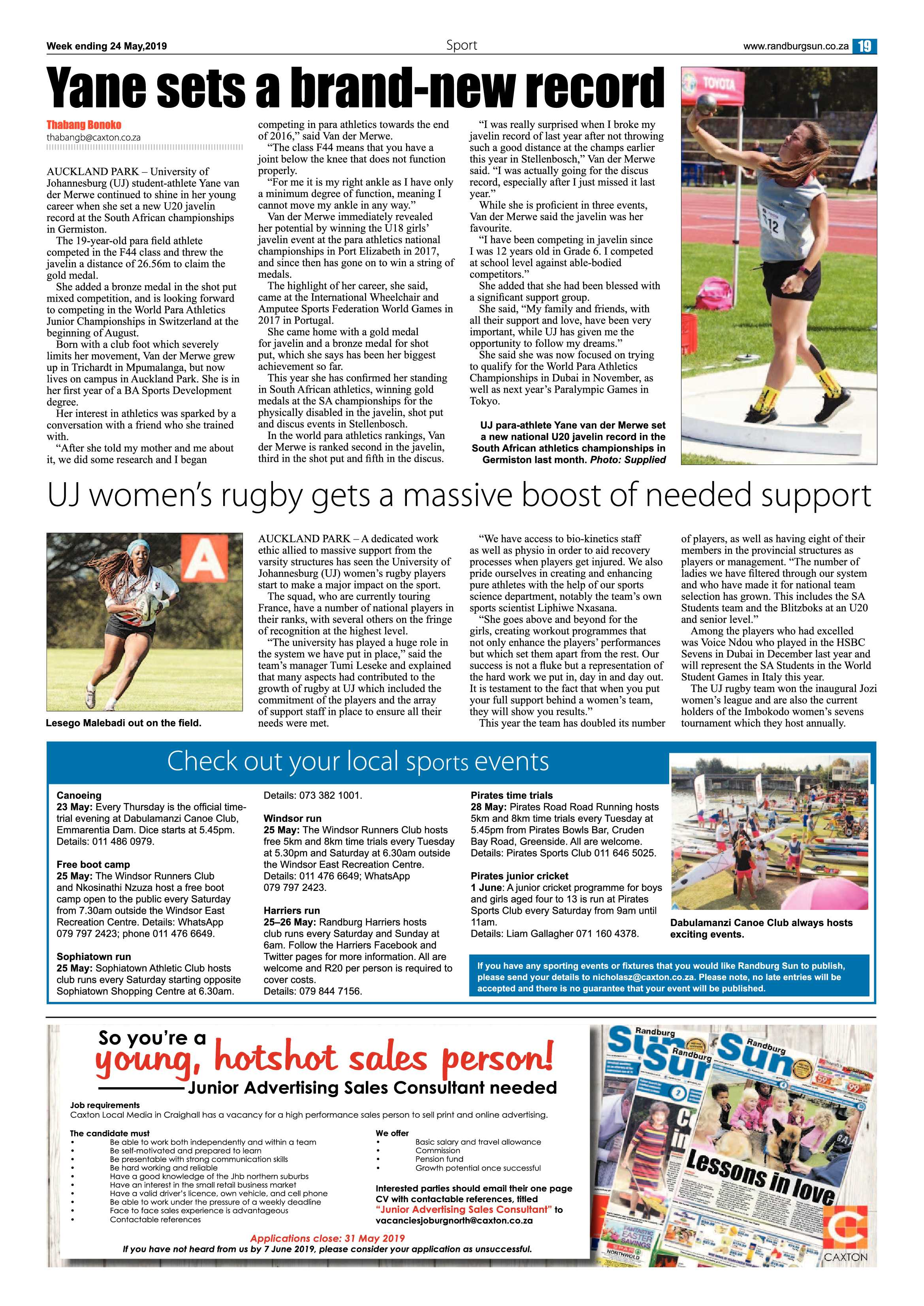 RS 24 May 2019 | Randburg Sun